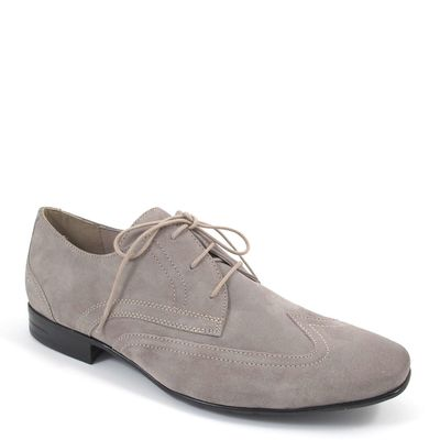 air4men by Caprice / Schnürer Grau Wildleder - elegante Herrenschuhe Grey Suede