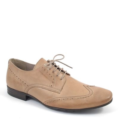 air4men by Caprice / Elegante Herren-Schnürer Beige - Herrenschuhe