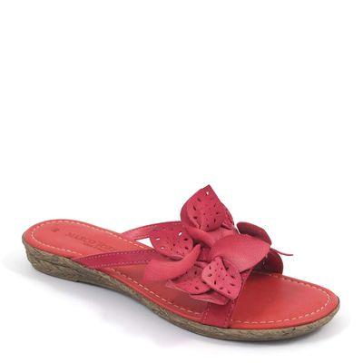 Marco Tozzi / Pantolette Rot - Dianette mit Blumen Red - Sandalen