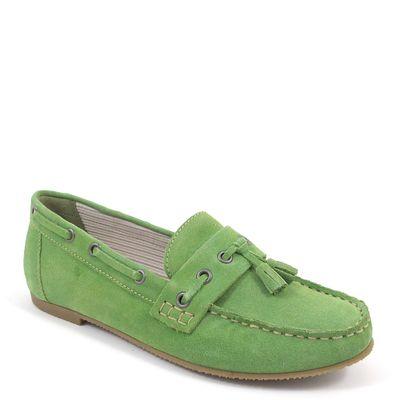 Caprice / Mokassin Grün - Wildleder Slipper Green Suede