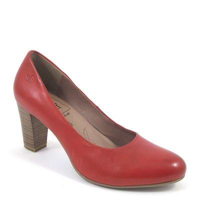 Caprice / Pumps Rot - elegante Lederpumps Red