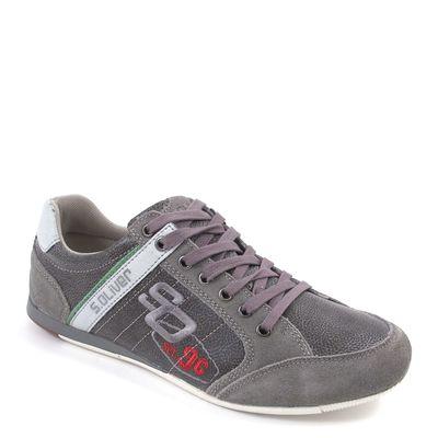 s.Oliver / Herren Sneaker Grau - Schnürschuhe Dark Grey Comb