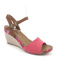 s.Oliver / Keilsandalette Pink - Sandalette mit Keilabsatz