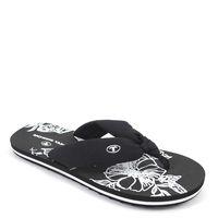 Tom Tailor / Zehtrenner Schwarz/Weiss - Flip Flop Hawaii Black