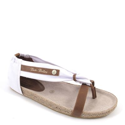 Tom Tailor / Sandalen Weiss/Braun - Oregon White