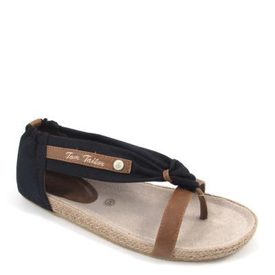 Tom Tailor / Sandalen Schwarz/Braun - Sandalette Oregon Black