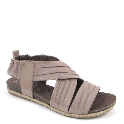 Caprice / Sandale Grau - Sandalette Stone Nubuc