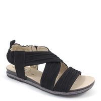 Caprice / Sandale Schwarz - Sandalette Black Nubuc