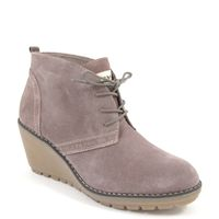 s.Oliver / Ankle Boots Taupe/Braun - mit Keilabsatz (Kreppsohle)