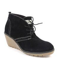 s.Oliver / Ankle Boots Schwarz - Keilstiefelette Black