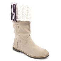 s.Oliver / Stiefel Beige mit Strick - Damen Boots Truffle
