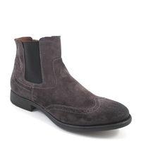 BELMONDO / Chelsea Boots Grau Wildleder - Herren-Stiefelette Grigio - Stiefel