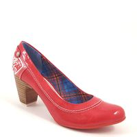 s.Oliver / Pumps Rot Lack / Weiss - Lackpumps Chili Patent
