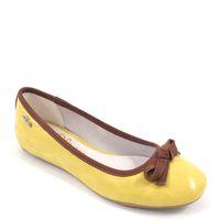 s.Oliver / Ballerina Gelb/Braun - Lackballerina Yellow