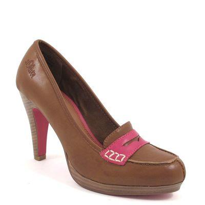 s.Oliver / Pumps Tobacco/Pink - Plateaupumps Braun - High Heels