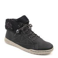 s.Oliver / Bootie-Sneaker Schwarz - Schnür-Boots Black mit Umschlagschaft