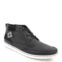 s.Oliver / Sneaker Schwarz - Winter-Schnür-Boots Black - weisse Sohle