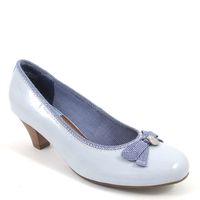 s.Oliver / Lackpumps Hellblau - Dirndl-Pumps Sky Patent - Trachten Schuhe