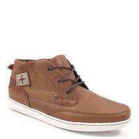 s.Oliver / Sneaker Braun - Winter-Schnür-Boots Cognac - weisse Sohle