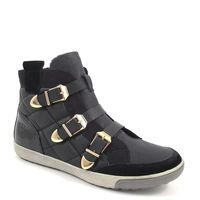 Tamaris / Bootie Schwarz mit 3 Gold-Schnallen - Sneaker Black