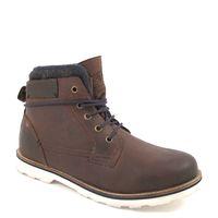 s.Oliver / Herren Winter Boots Mocca - gefütterte Stiefelette Dunkelbraun, Fettleder