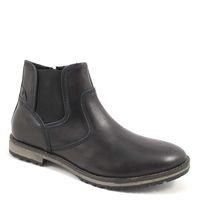 s.Oliver / Herren Chelsea Boots Schwarz - Leder Stiefelette Black