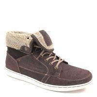 s.Oliver / Hi Sneaker Mocca Comb - Herren-Bootie Braun m. Warmfutter