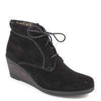 Tamaris / Wedges Schwarz - Ankle Boots mit Keilabsatz Black