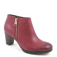 Tamaris / Ankle Boots Rot - Stiefelette Sangria - Aussenreissverschluss Gold