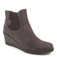 Tamaris / Keil-Stiefelette Dunkelbraun - Ankle Boots mit Keilabsatz Espresso