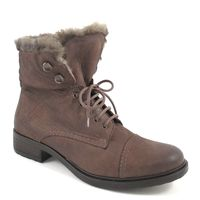 Tamaris / Winter-Boots Braun mit Fell - Stiefelette mit Pelz Cognac