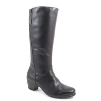 Tamaris / Stiefel Schwarz - elegante Damenstiefel Black - Lederstiefel