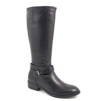 Tamaris / Stiefel Schwarz - Reitstiefel Black - elegante flache Stiefel