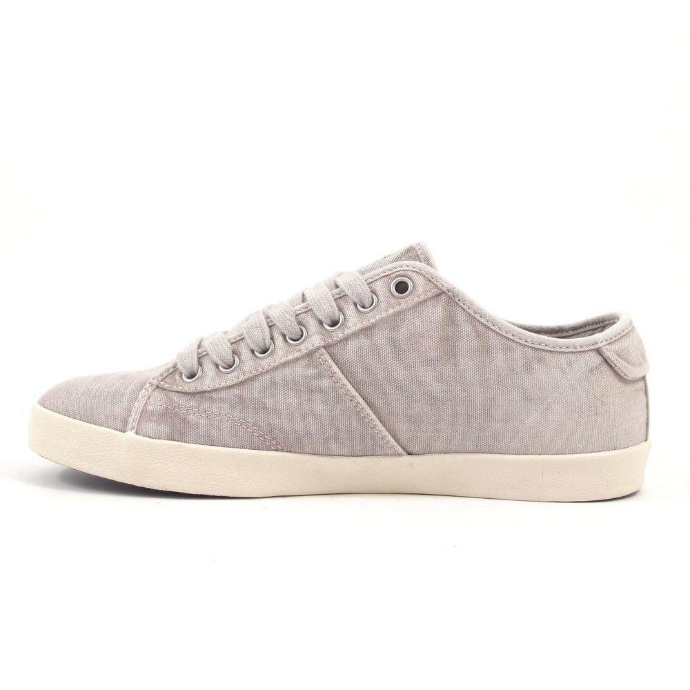 NAPAPIJRI / ASKER OFF WHITE - Canvas Sneaker Used-Weiss Grau m. Fahnen Print