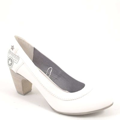 s.Oliver / Pumps Weiss - Damenpumps White - Prints mit Stern