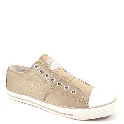 s.Oliver / Sneaker Beige - Satin Schlupfsneaker (wirkt Gold)