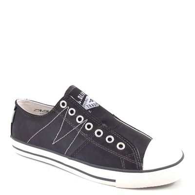s.Oliver / Sneaker Schwarz - Schlupfsneaker Black Satin - Slipper