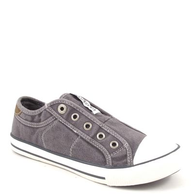 s.Oliver / Sneaker Grau - Canvas-Slipper Grey - Stoffschuhe