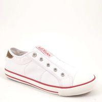 s.Oliver / Sneaker Weiss - Canvas-Slipper White - Stoffschuhe