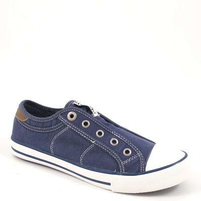 s.Oliver / Sneaker Blau - Canvas-Slipper Navy - Stoffschuhe