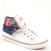 s.Oliver / Hi-Sneaker Weiss - Canvas-Schuhe mit Umschlag-Schaft - Offwhite