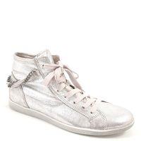 Tamaris / Sneaker Silber - High Schnürer Silver - Metallic Schuhe m. Kette Trend