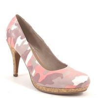 Tamaris / Pumps Candy Camouflage - High-Heels Military Pink - Plateau