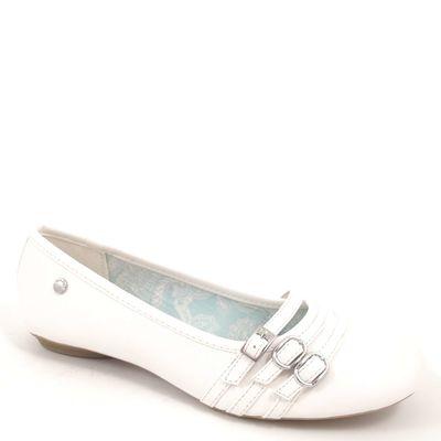 s.Oliver / Ballerina White - Ballerinas Weiss - 3 Riemen u. Schliessen