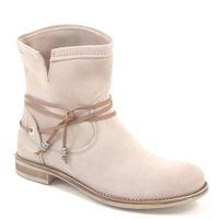 Marco Tozzi / Stiefelette Offwhite - Summer Boots Creme/Beige - Sommerstiefel mit Bändel