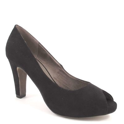 Tamaris / Peeptoes Schwarz - Plateau-Pumps Black