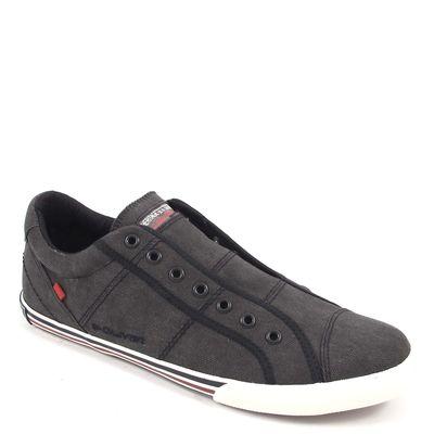 s.Oliver / Slipper Schwarz - Schlupf-Sneaker Black Comb - Canvas