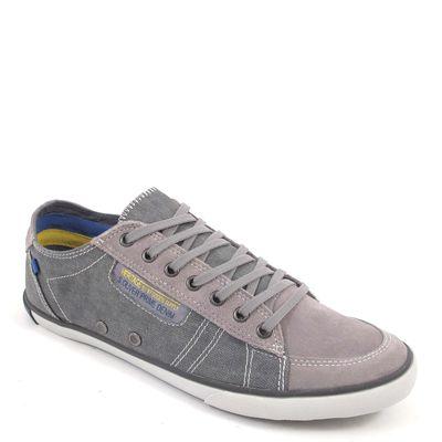 s.Oliver / Herren Sneaker Grau - Schnürer Dark Grey Comb - Stoff und Leder