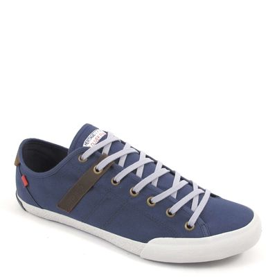 s.Oliver / Sneaker Blau - Herrenschuhe Navy - Stoffschuh