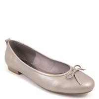 Tamaris / Ballerina Platin - Leder Ballerinas Platinum - Klassisch m. Schleife